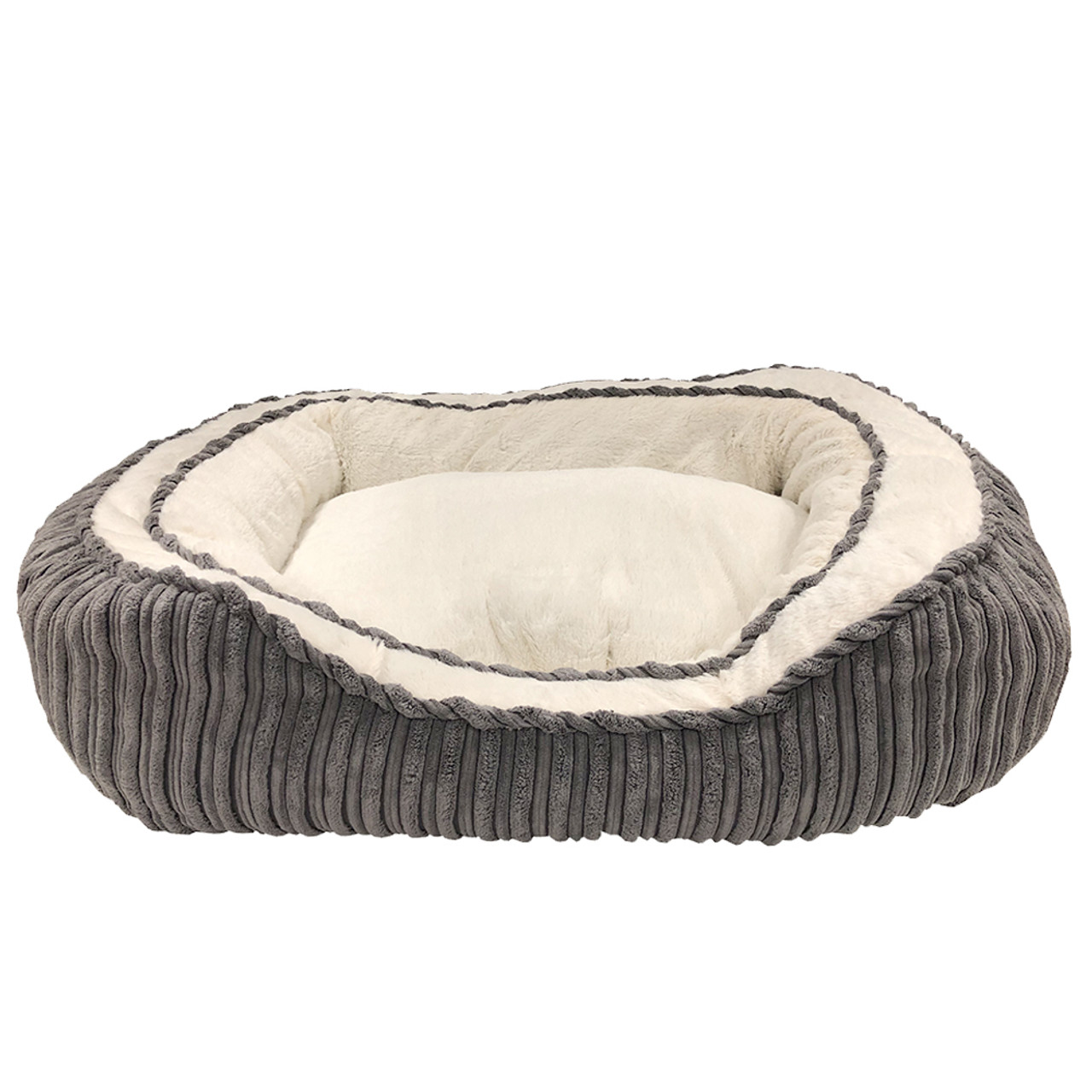 Pure Comfort Oval Gray Pet Bed