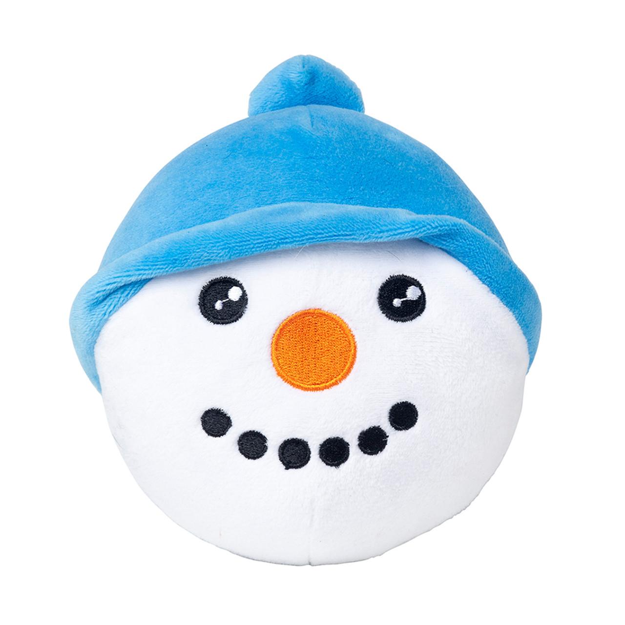 FuzzYard Holiday Snowman Ball Plush Dog Toy