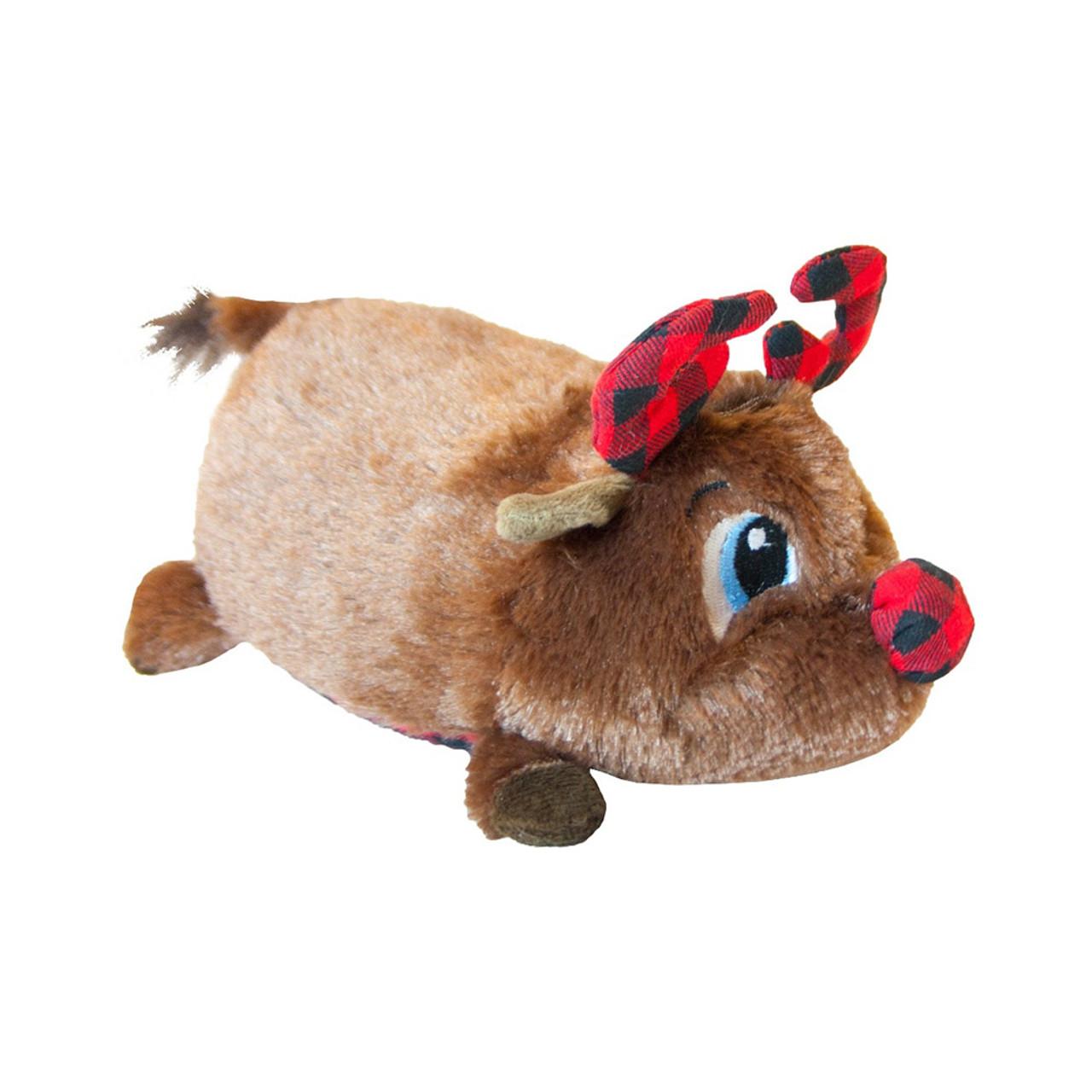 Outward Hound Fattiez Holiday Reindeer Plush Dog Toy