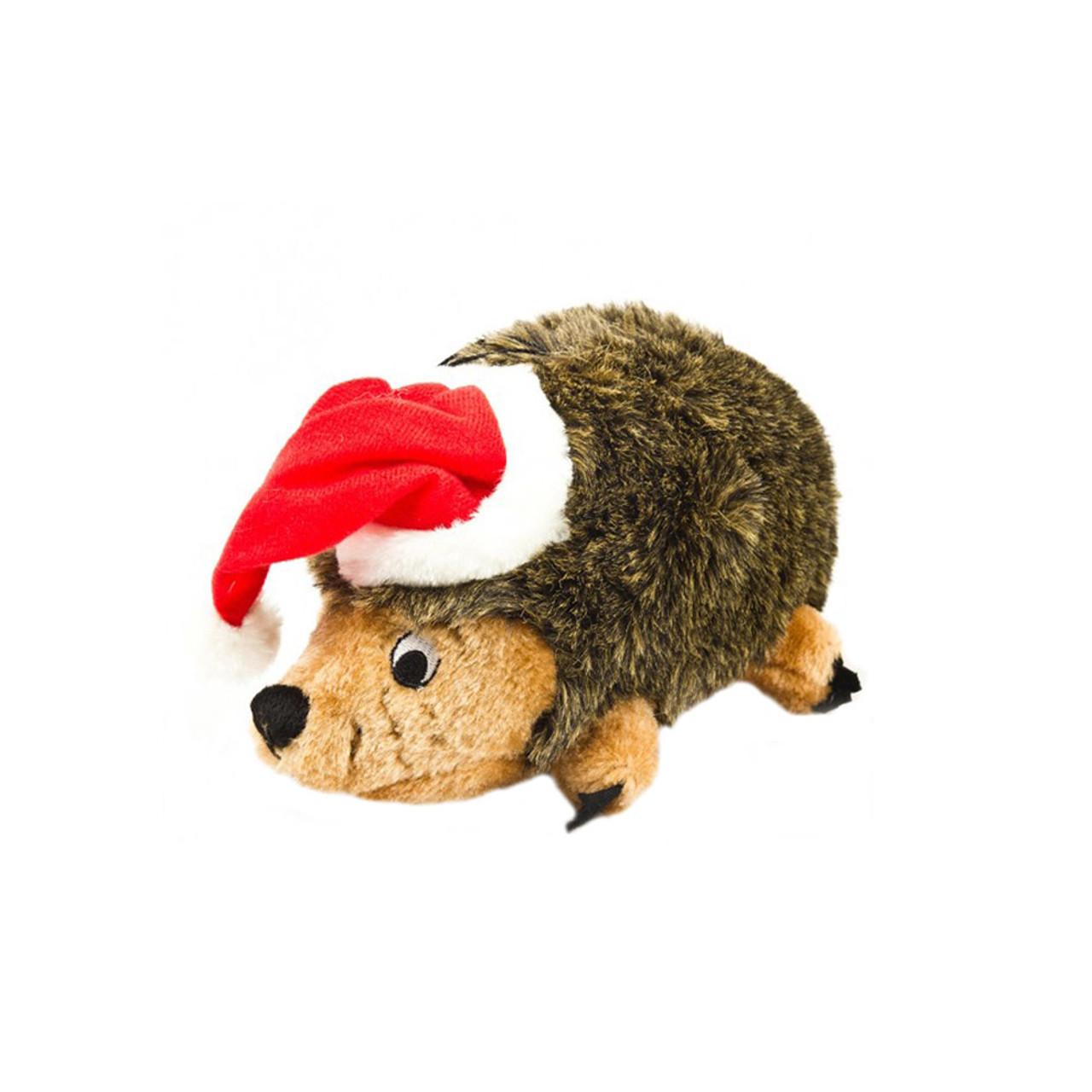 Outward Hound Holiday Hedgehogz Plush Dog Toy