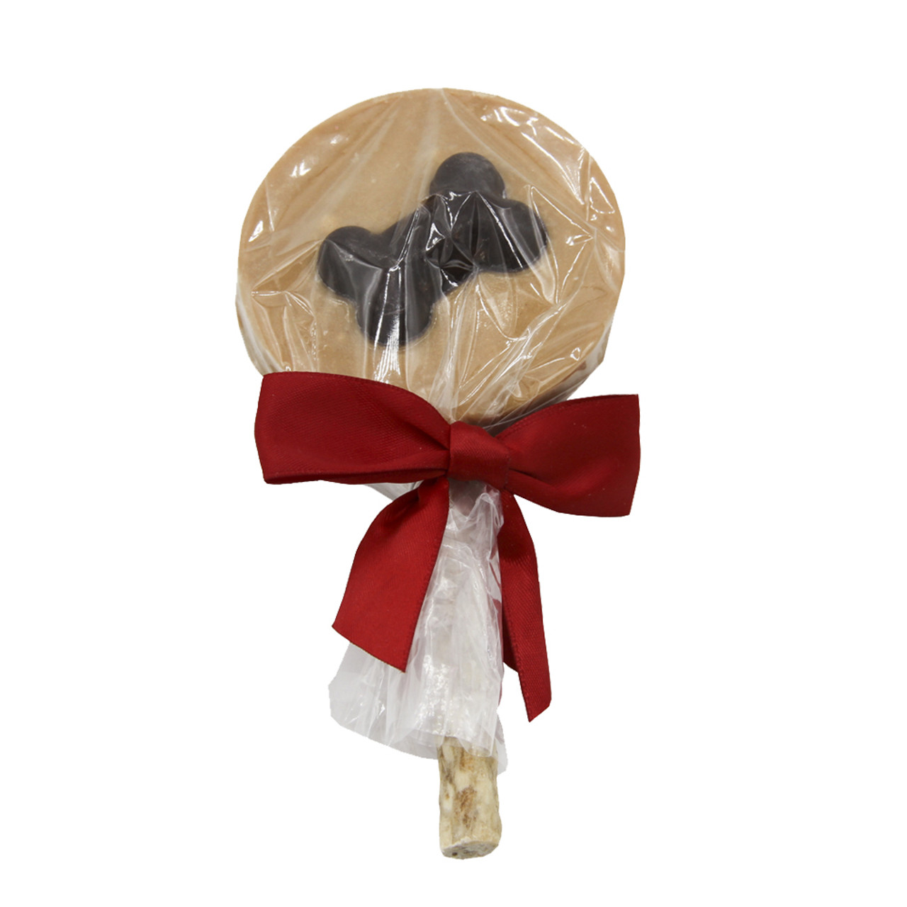 Claudia's Christmas Carob Bone Peanut Butter Lollipop Dog Treat