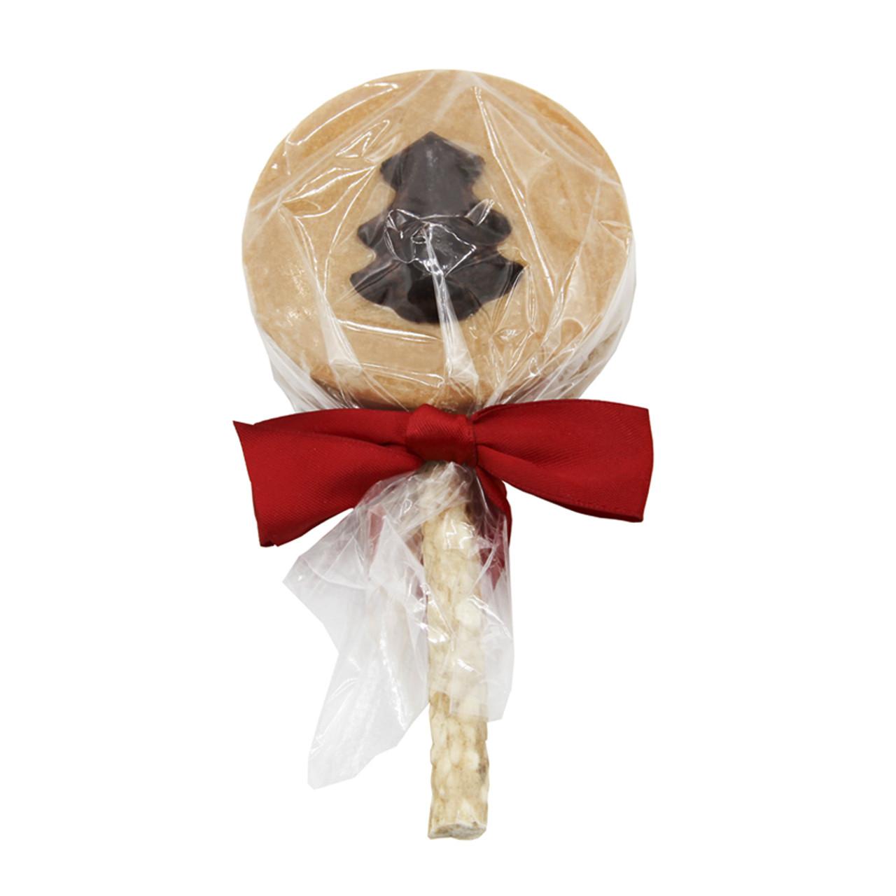 Claudia's Christmas Carob Tree Peanut Butter Lollipop Dog Treat