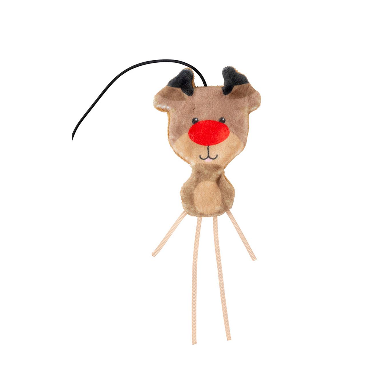 FuzzYard Holiday Reindeer Teaser Cat Toy