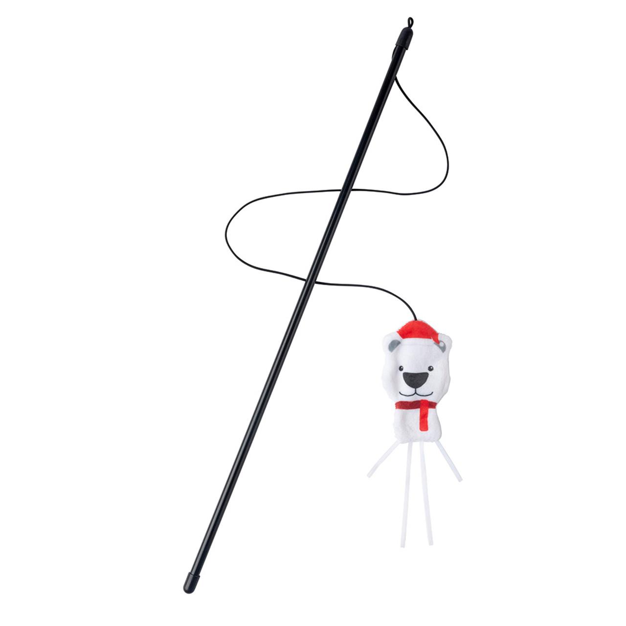 FuzzYard Holiday Polar Bear Teaser Cat Toy