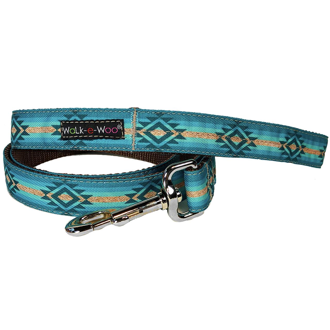 Walk-e-Woo Turquoise Sky Dog Leash