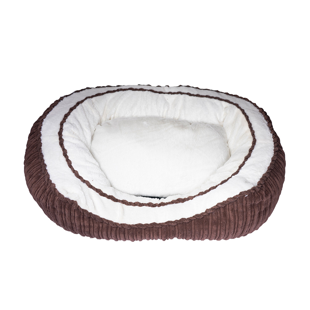 Pure Comfort Oval Brown Pet Bed