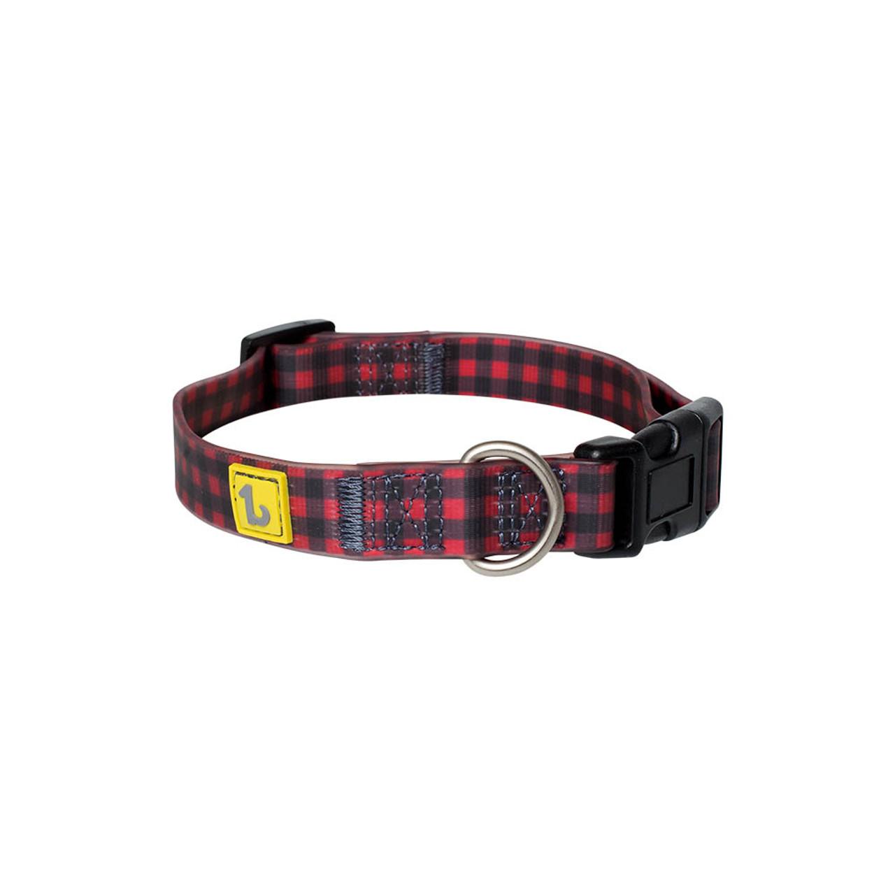BeOneBreed Silicon Buffalo Plaid Dog Collar
