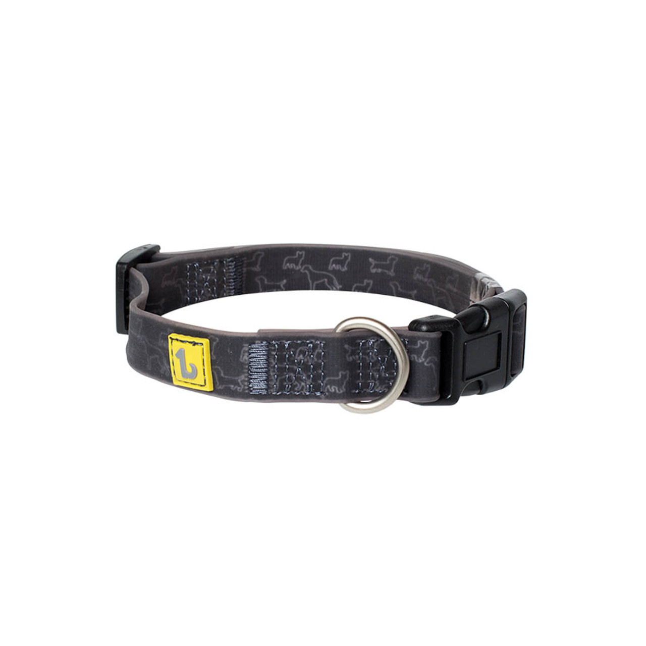 BeOneBreed Silicone Black Doggies Dog Collar