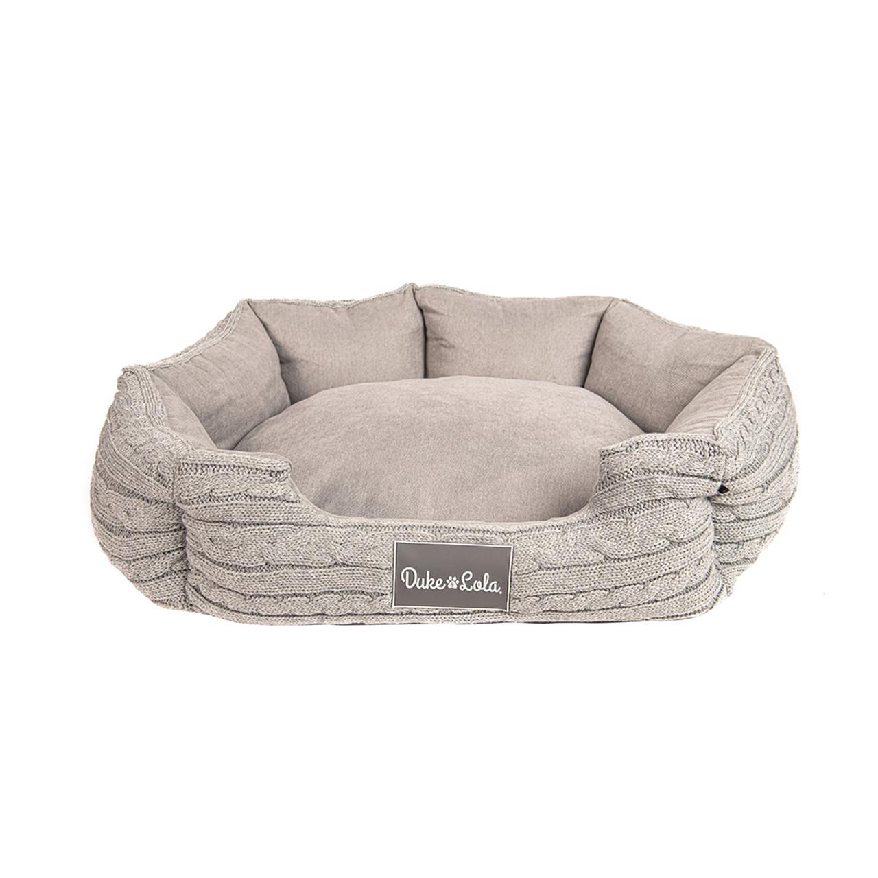 Duke & Lola Nuzzle Grey Memory Foam Dog Bed