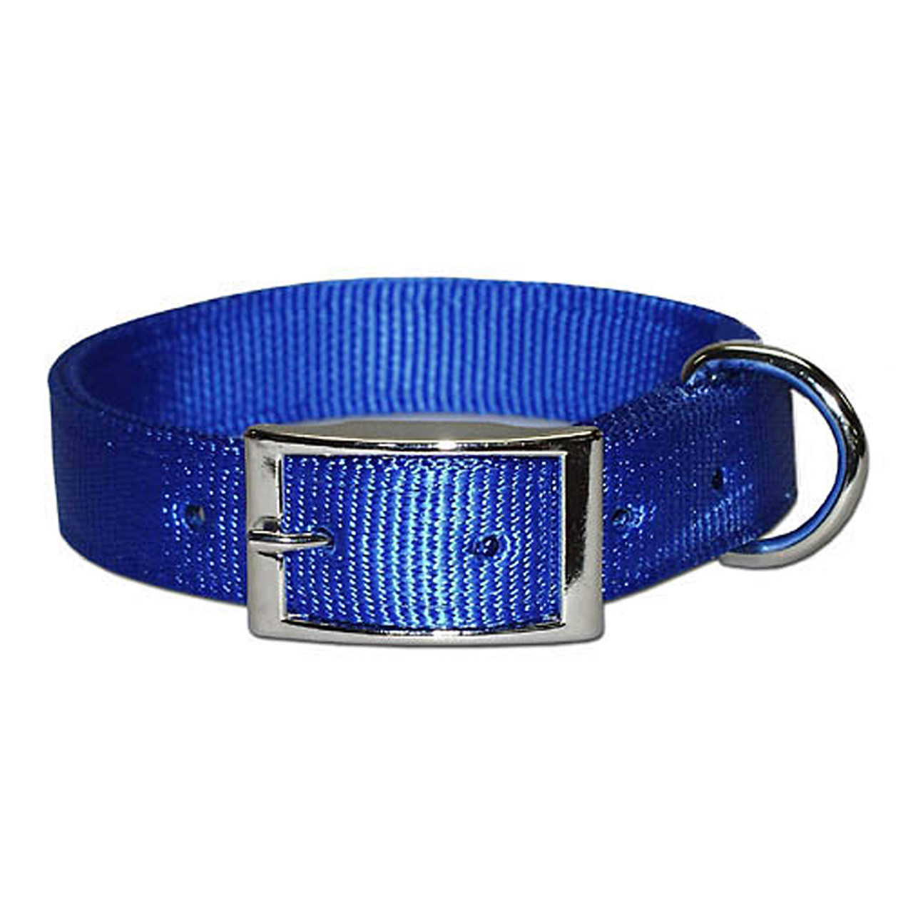 Bravo Two-Ply Nylon Blue Dog Collar