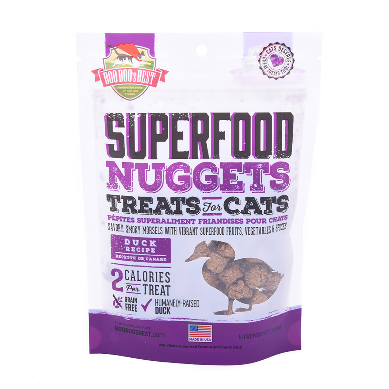 Boo Boo's Best SuperFood Nuggets Duck Recipe Cat Treats