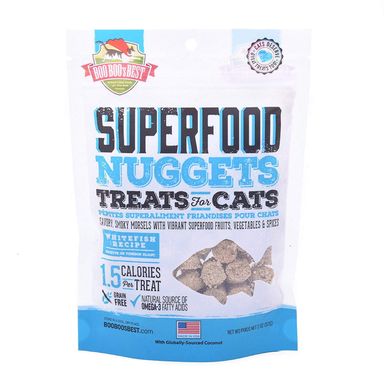 Boo Boo's Best SuperFood Nuggets Whitefish Recipe Cat Treats