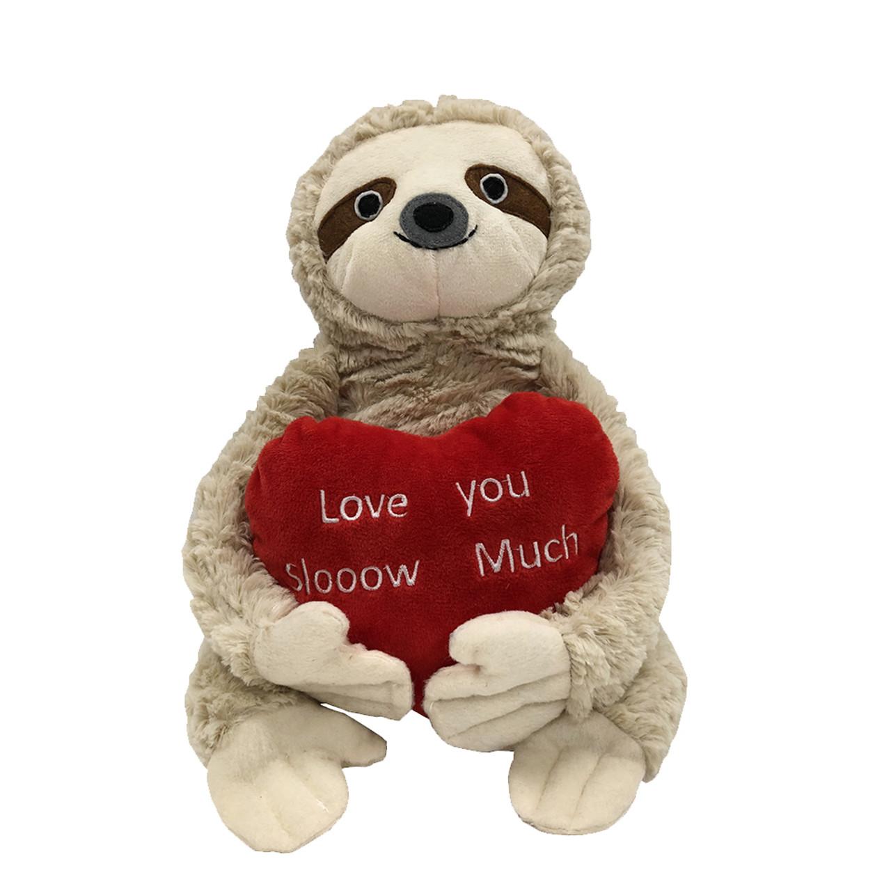 Patchwork Pet Valentine's Beige Sloth Plush Dog Toy