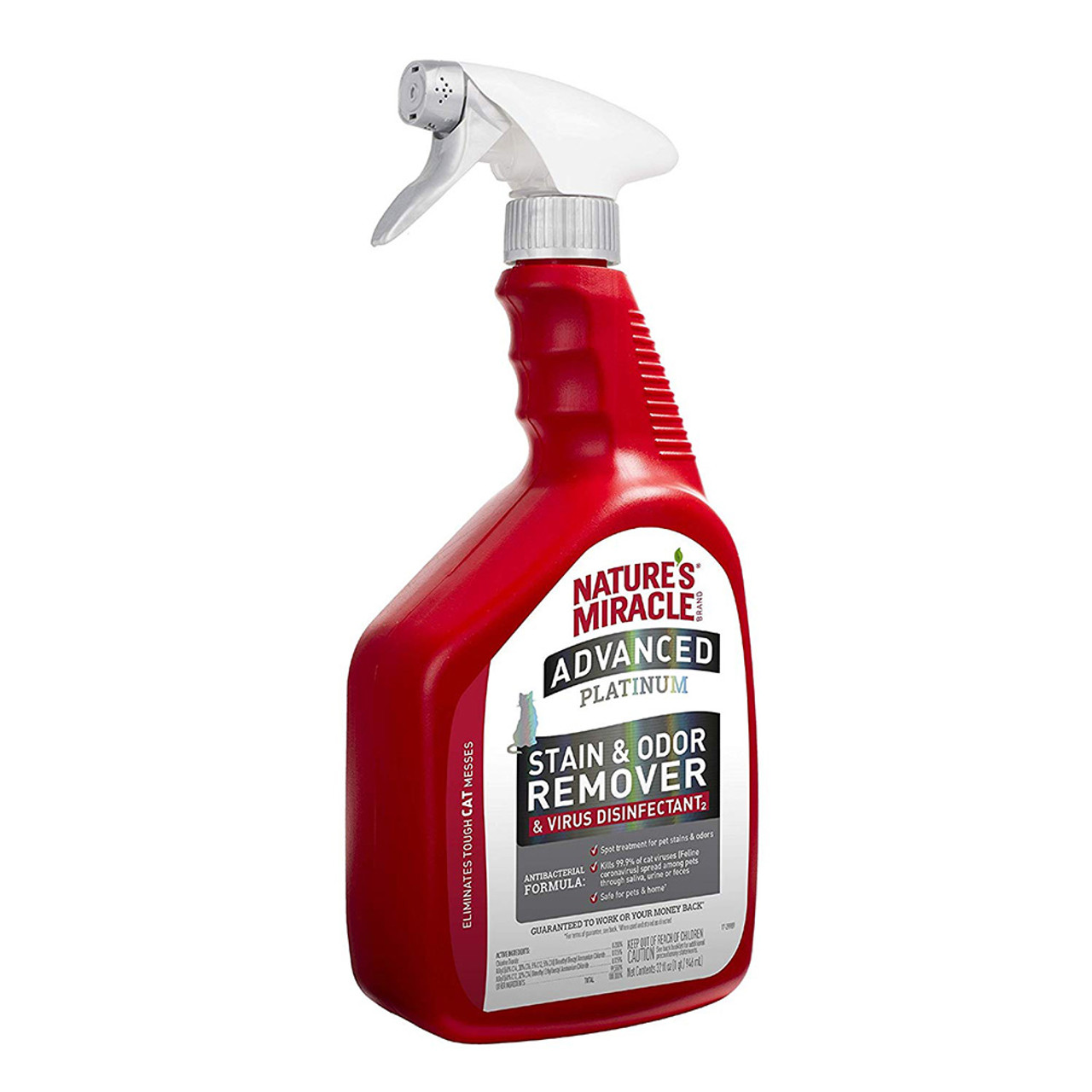 Nature's Miracle Advanced Platinum Stain & Odor Remover & Virus Disinfectant for Cats