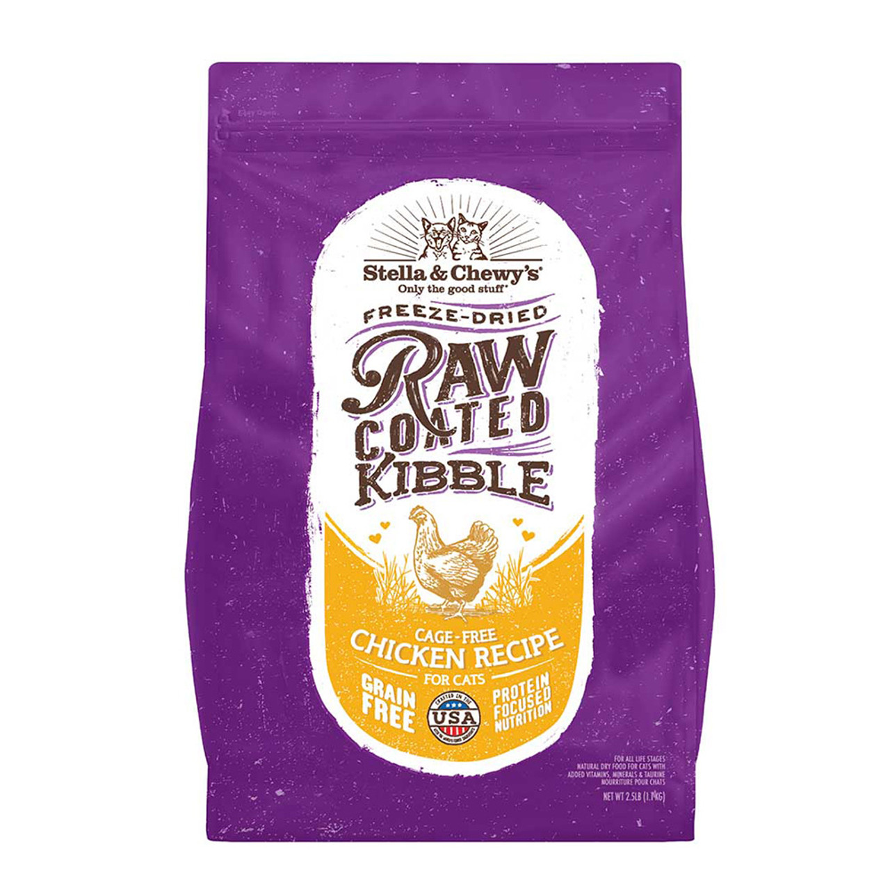 Stella & Chewy's Raw Coated Kibble Cage-Free Chicken Recipe Dry Cat Food