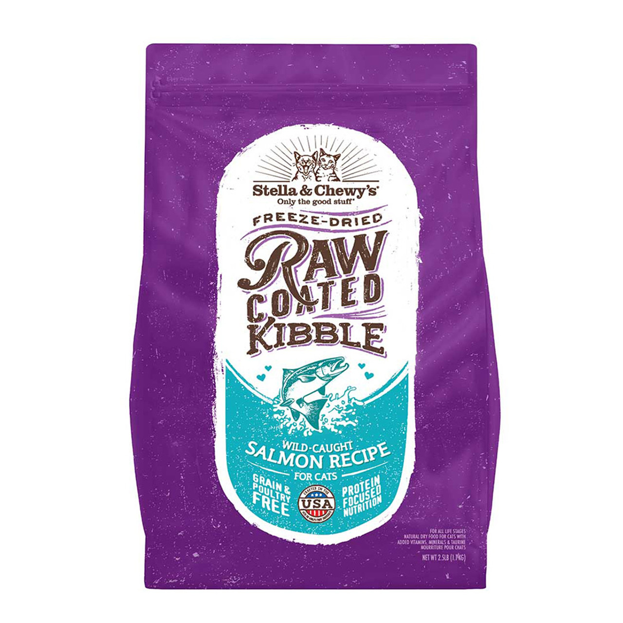 Stella & Chewy's Raw Coated Kibble Wild-Caught Salmon Recipe Dry Cat Food