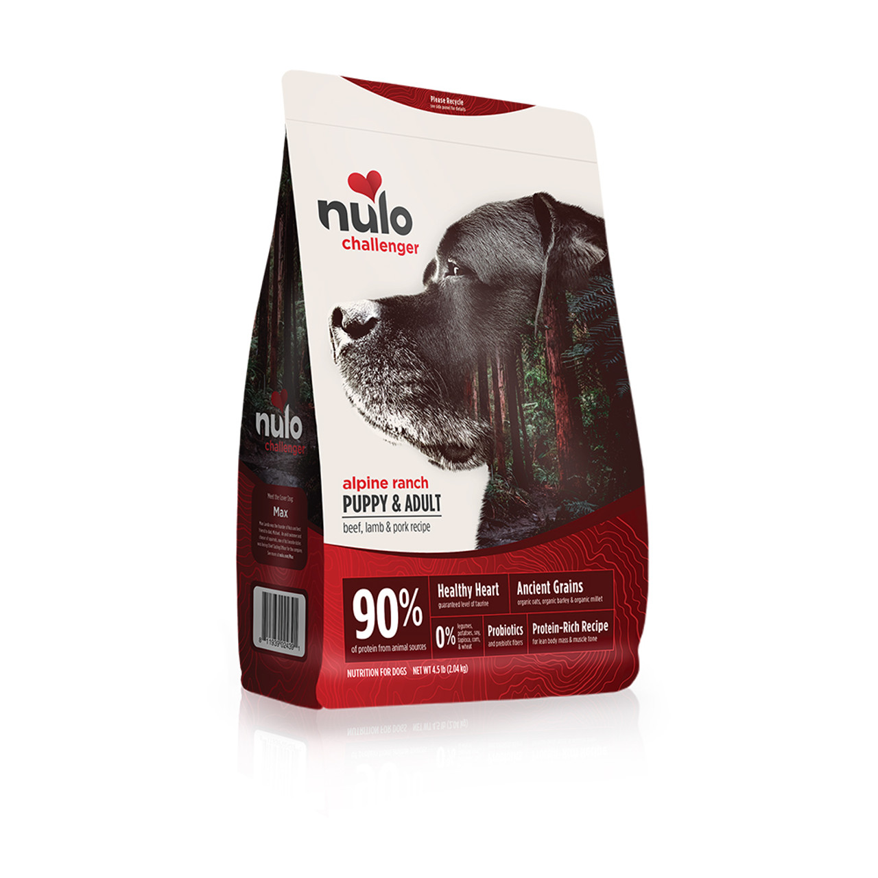 Nulo Challenger Puppy & Adult Beef, Lamb & Pork Recipe Dry Dog Food - 4.5 lb
