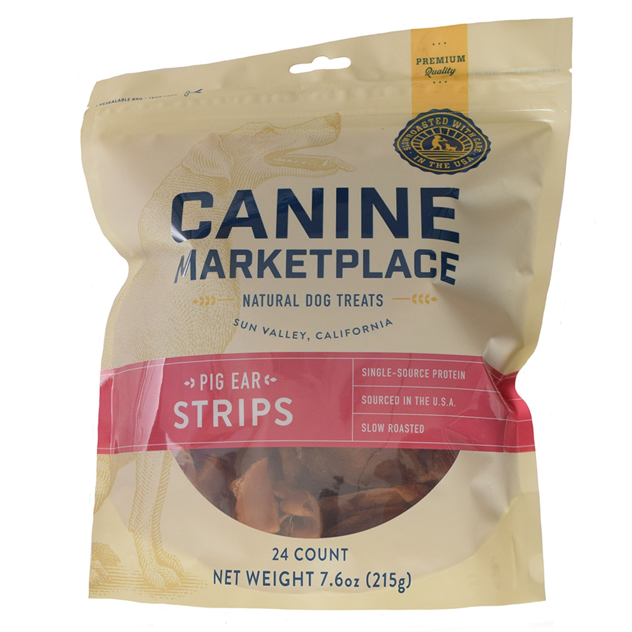 Canine Marketplace Pig Ear Strips Natural Dog Treats