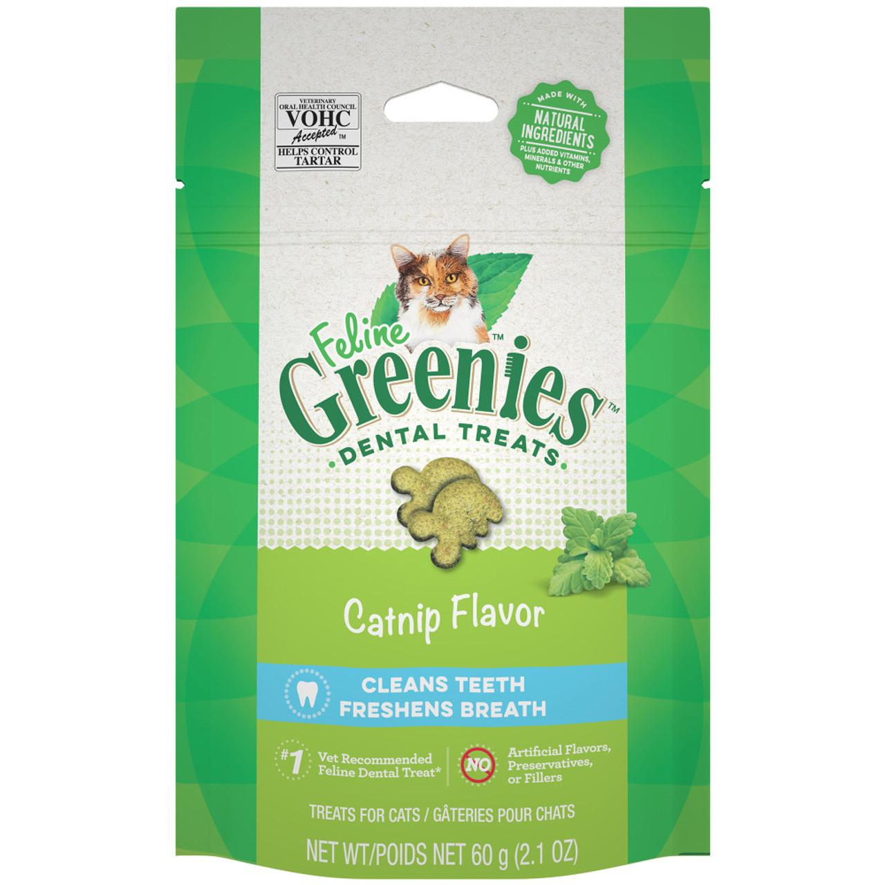 Feline Greenies Catnip Flavor Cat Dental Treats