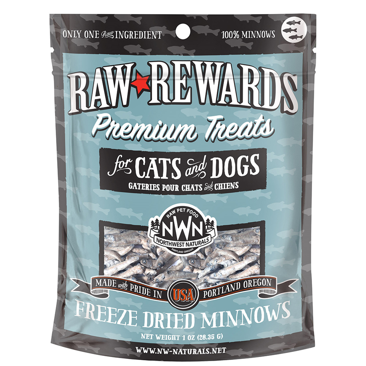 Raw Rewards Freeze Dried Minnows Cat & Dog Treats