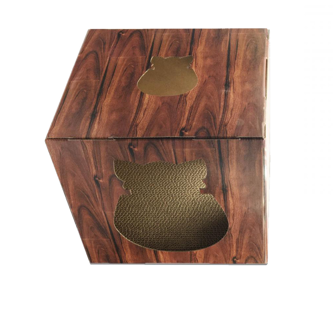 Doyen Wood FunBox with Scratcher Board Cat Toy