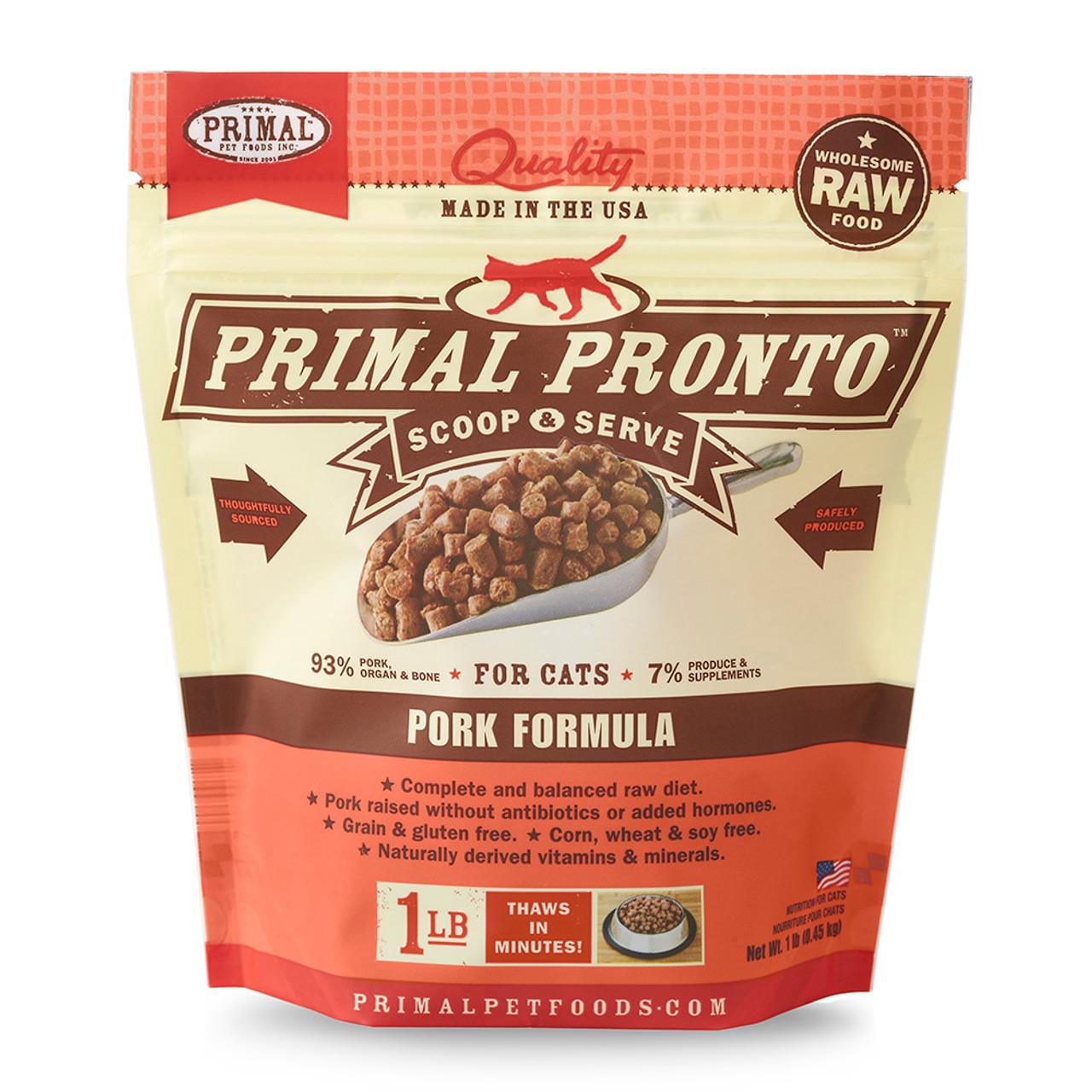 Primal Pronto Raw Frozen Feline Pork Formula Cat Food
