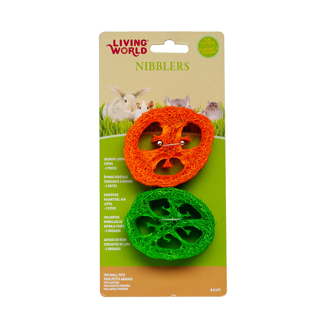 Living World Nibblers Slices Loofah Small Animal Chews