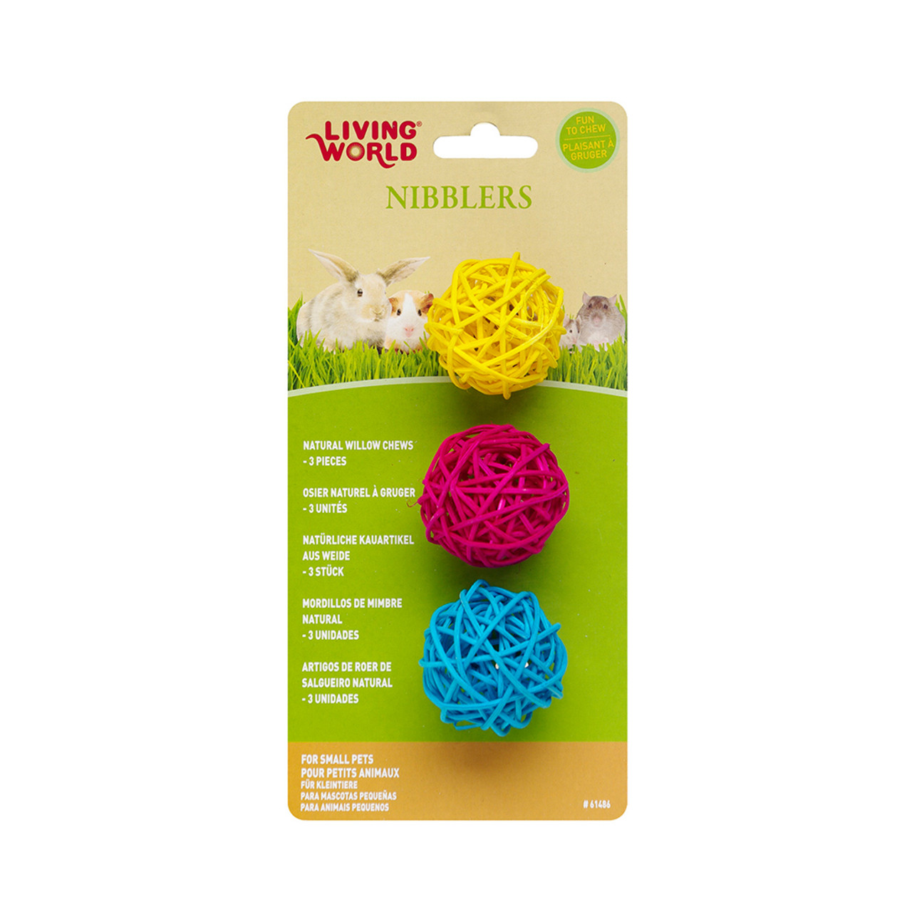 Living World Nibblers Willow Small Animal Chew Balls