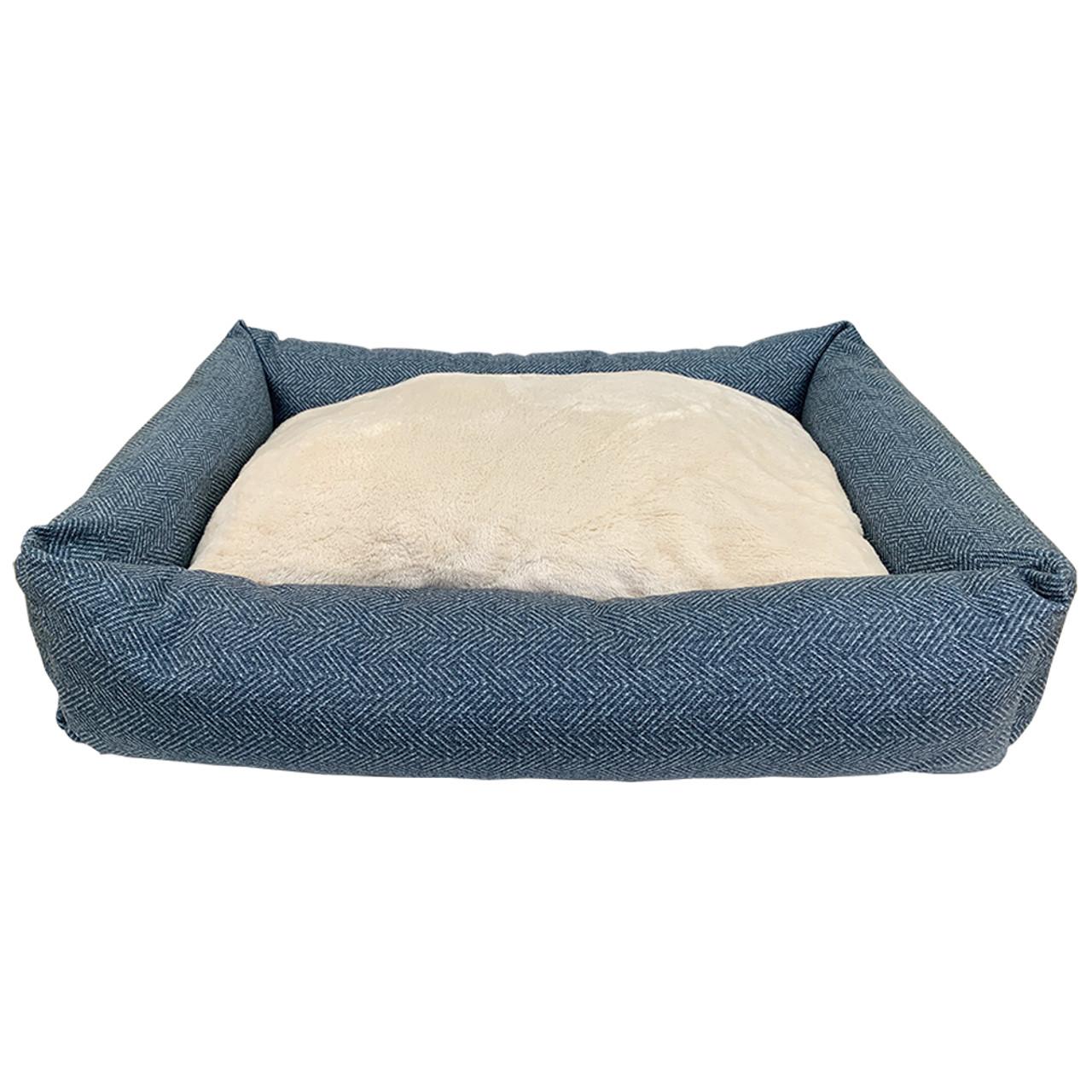 Forever Friends Navy Chevron Cuddler Pet Bed