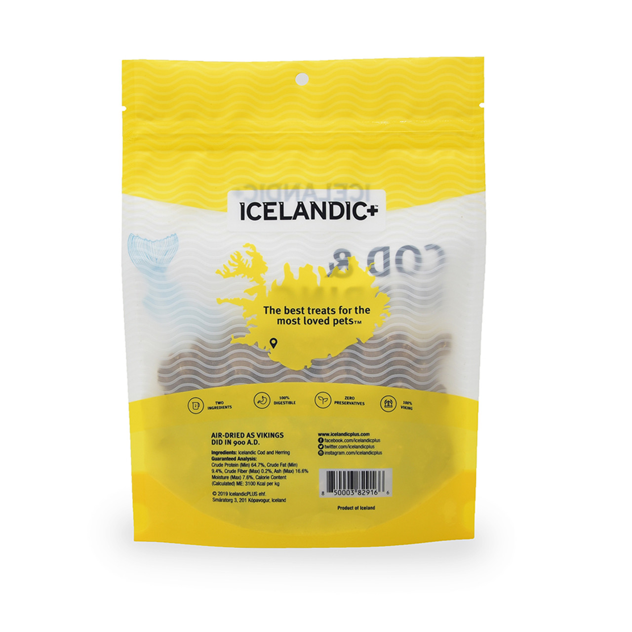Icelandic+ Cod & Herring Combo Bites Fish Dog Treat