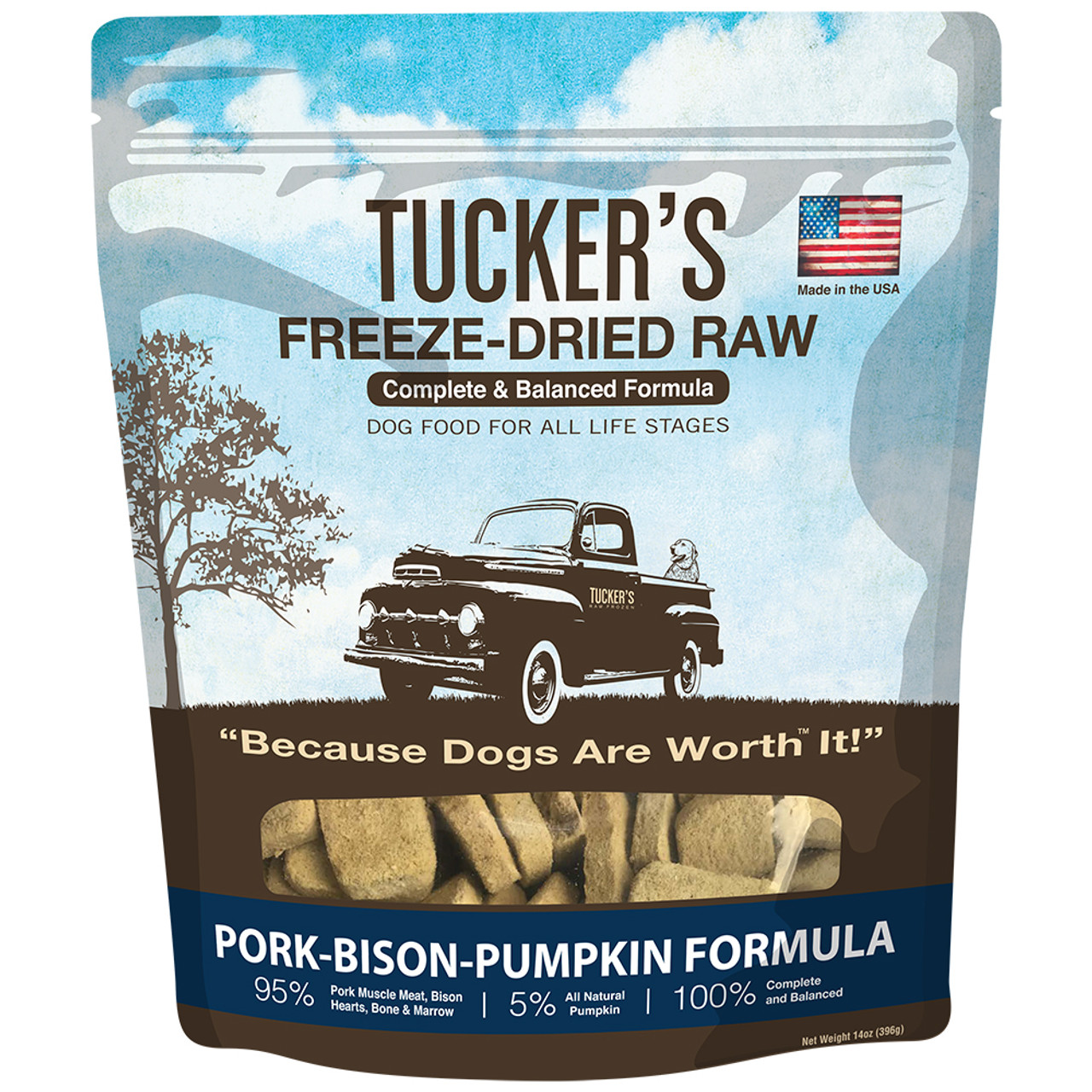 Tucker's Freeze-Dried Raw Pork-Bison-Pumpkin Formula Dog Food