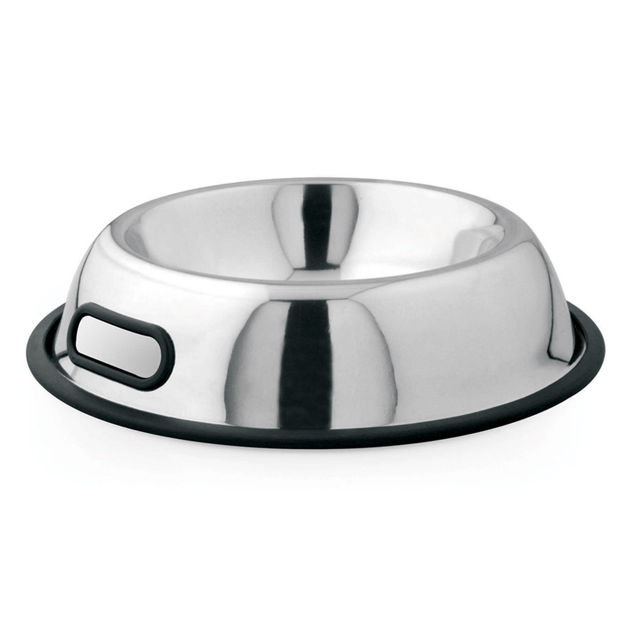 Dineasty Stainless Steel Non-Tip Dog Bowl w/Handle