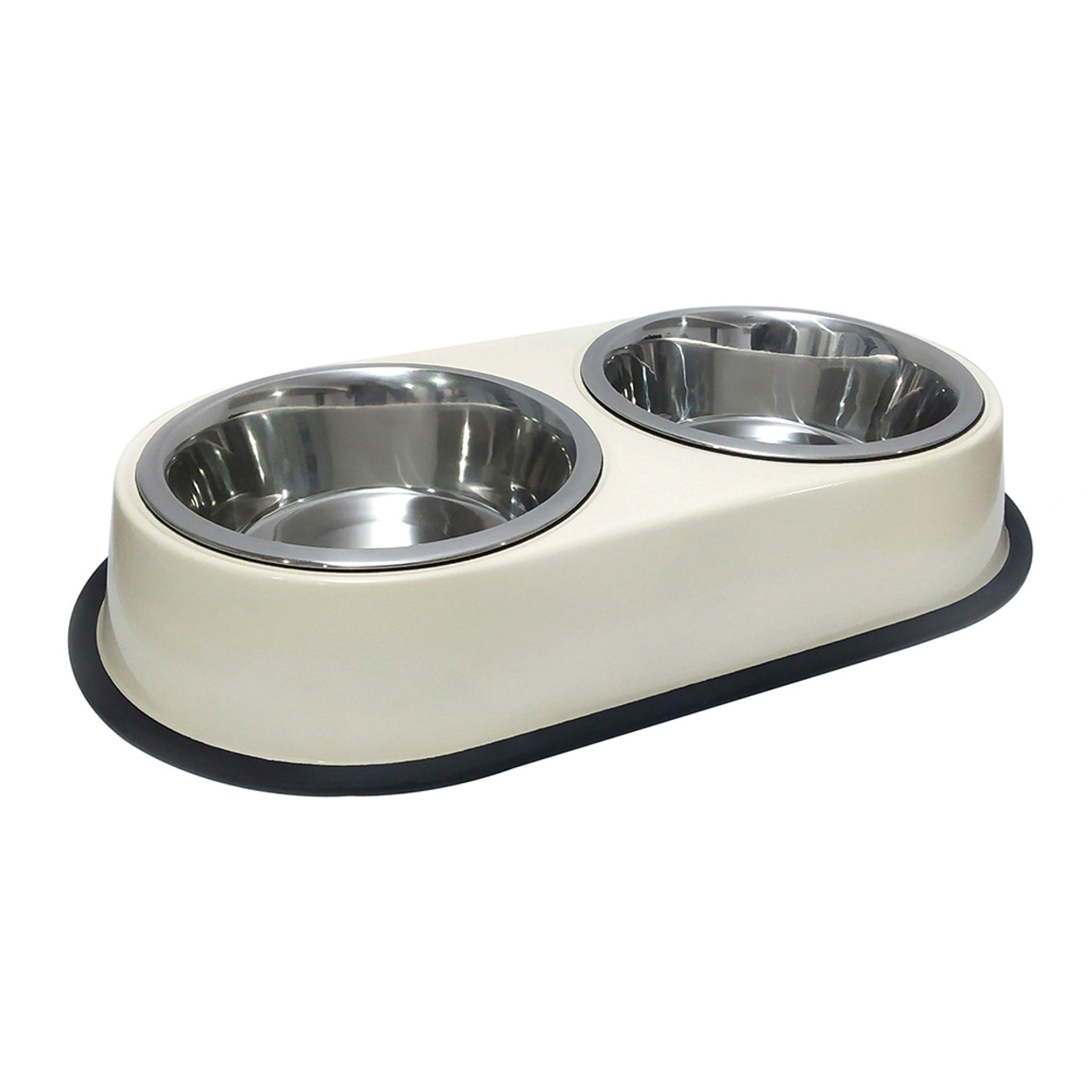 Dineasty Double Diner Stainless Steel Dog Bowl Set