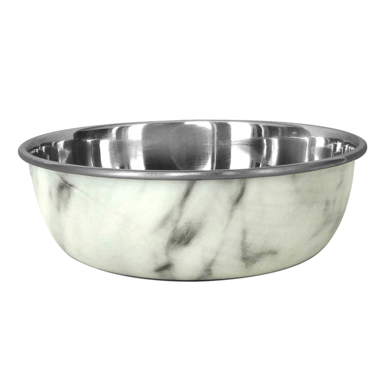 Dineasty Selecta Stainless Steel Marble Wrapped Dog Bowl