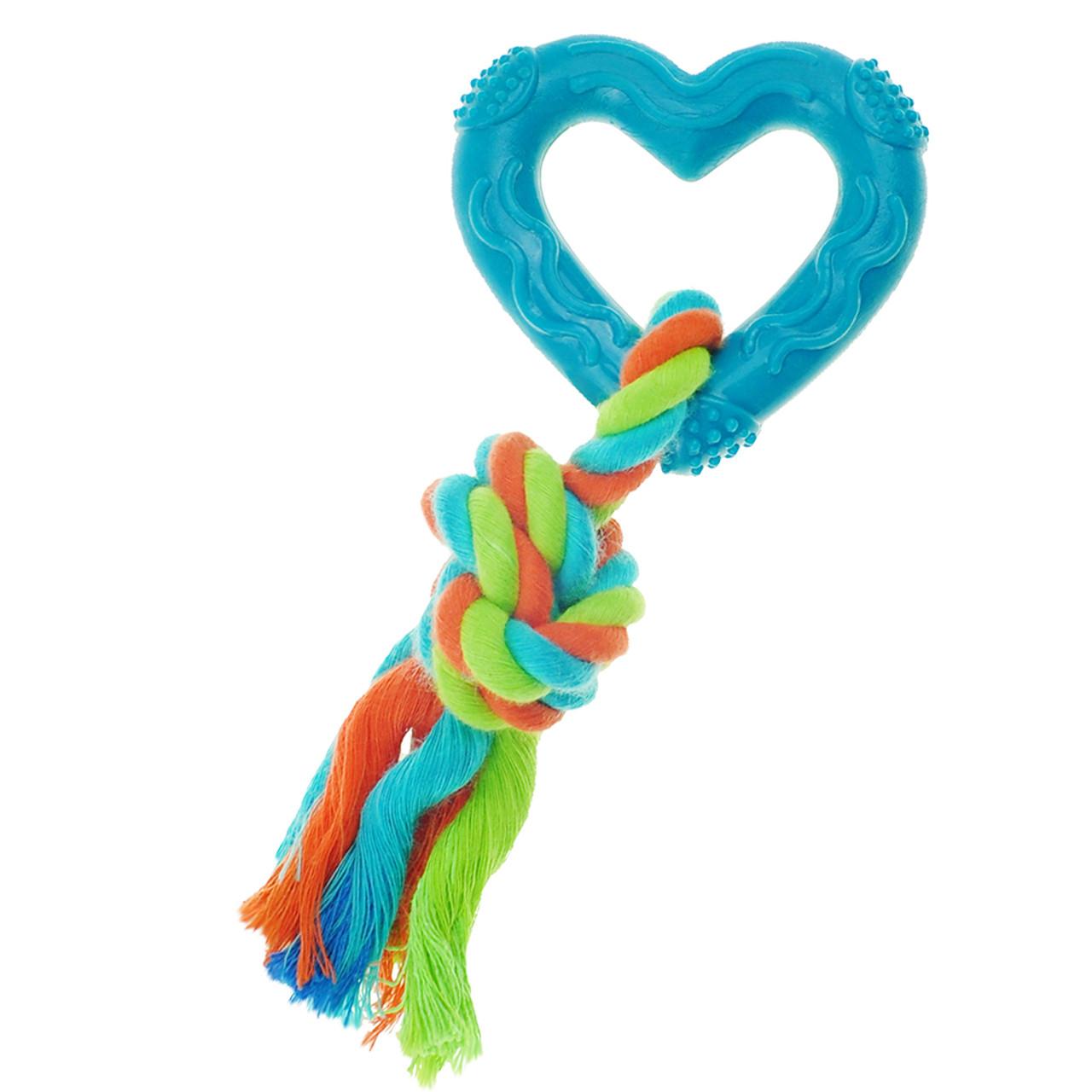 Boss Pet Chomper Mini TPR Heart Tug Dog Toy