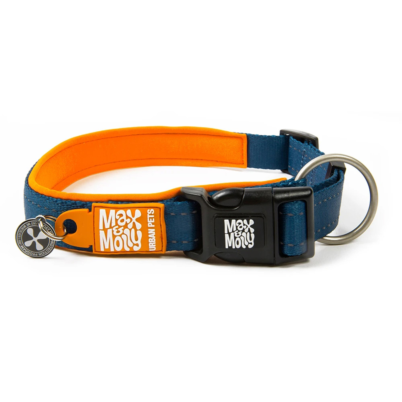 Max & Molly Smart ID Matrix Orange Dog Collar