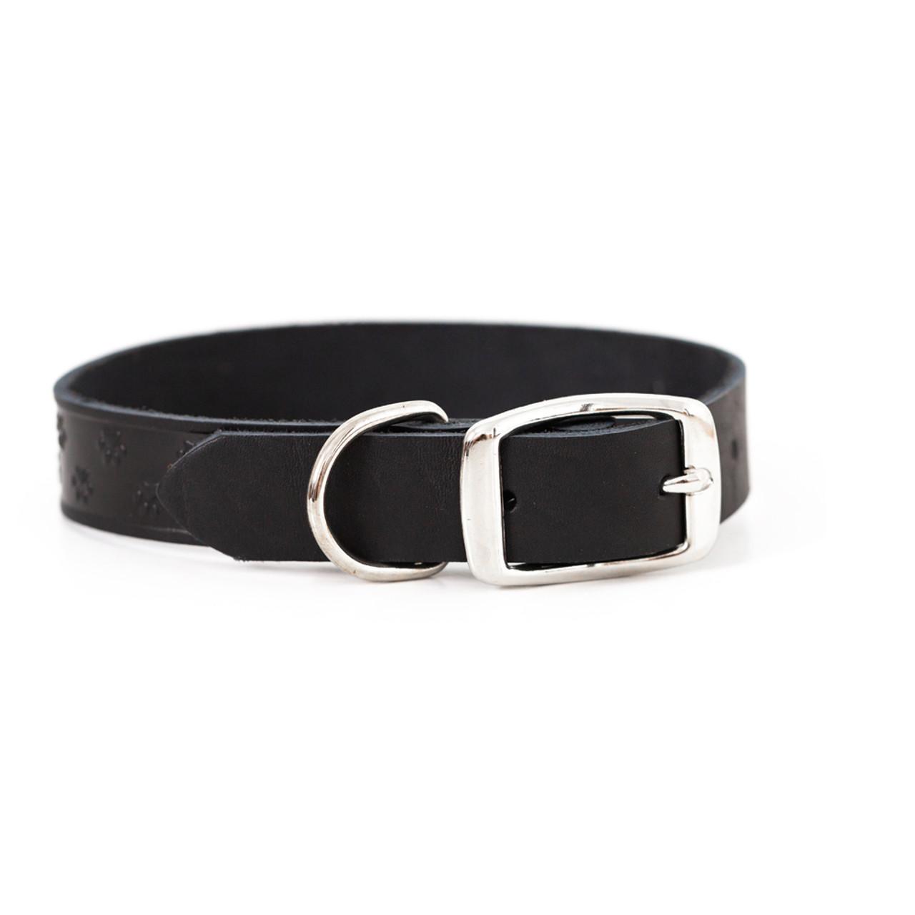 Classy Elegant Style Black Leather Dog Collar