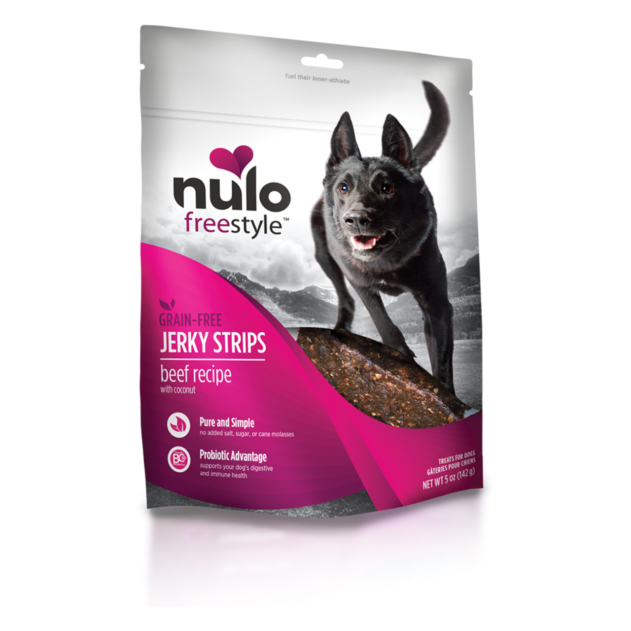 Nulo Freestyle Jerky Strips Beef Recipe Dog Treats