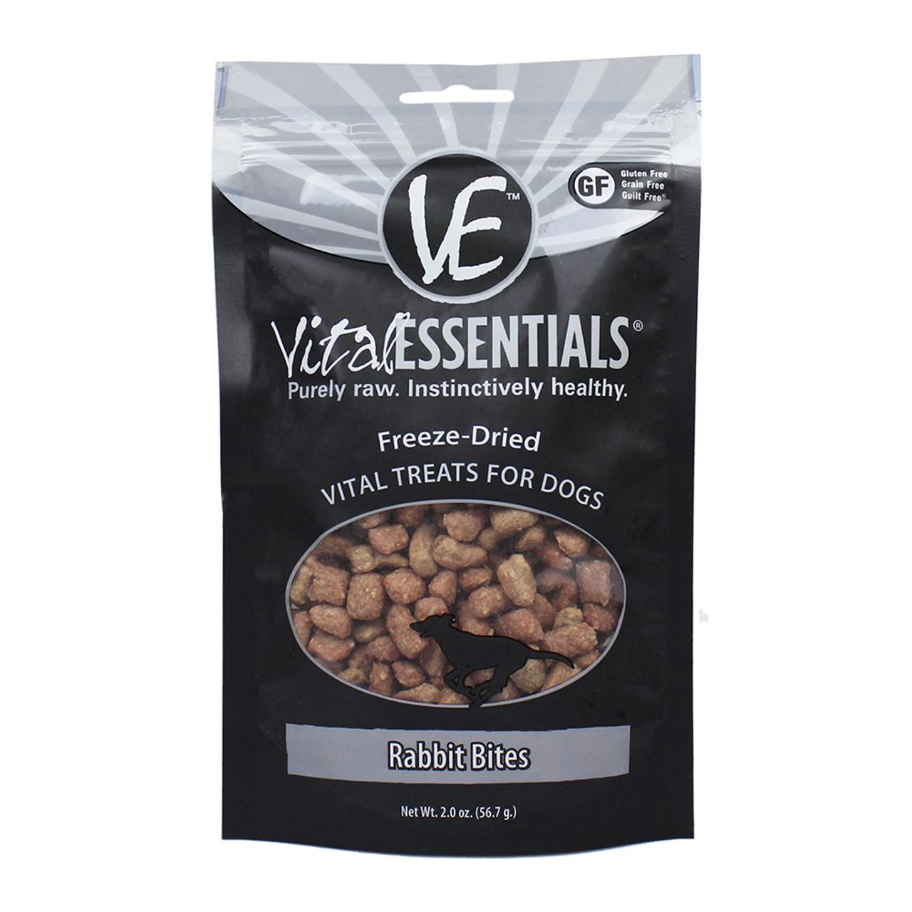 Vital Essentials Rabbit Bites Freeze-Dried Dog Treats