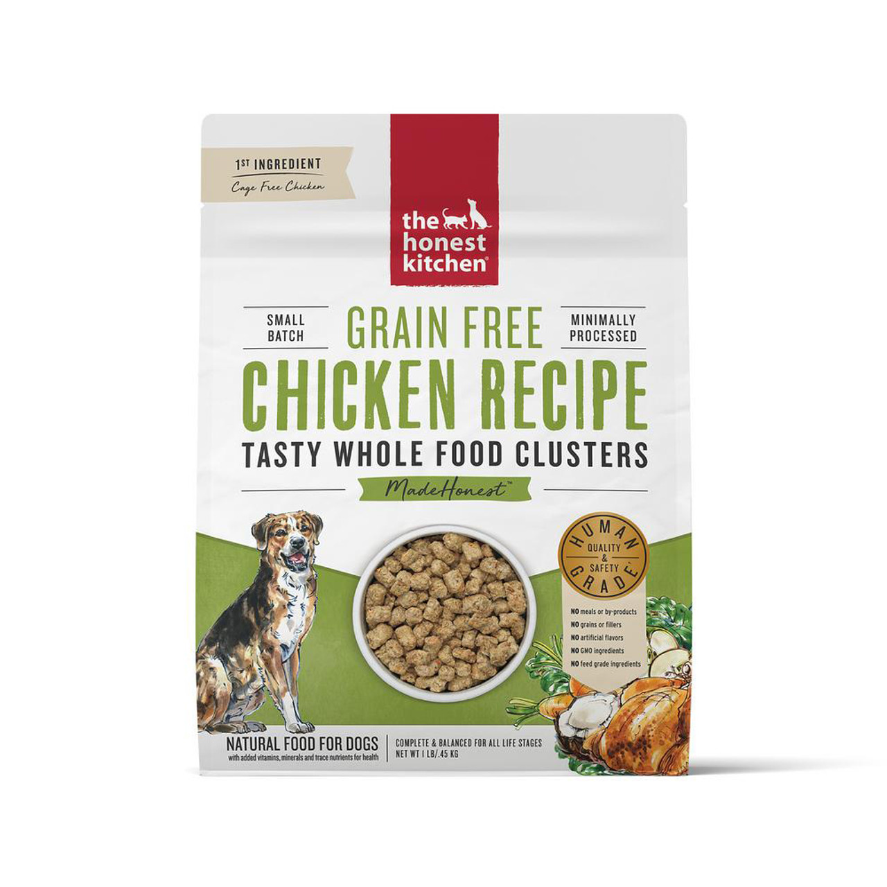 The Honest Kitchen Whole Food Clusters Grain Free Chicken Recipe Dry Dog Food