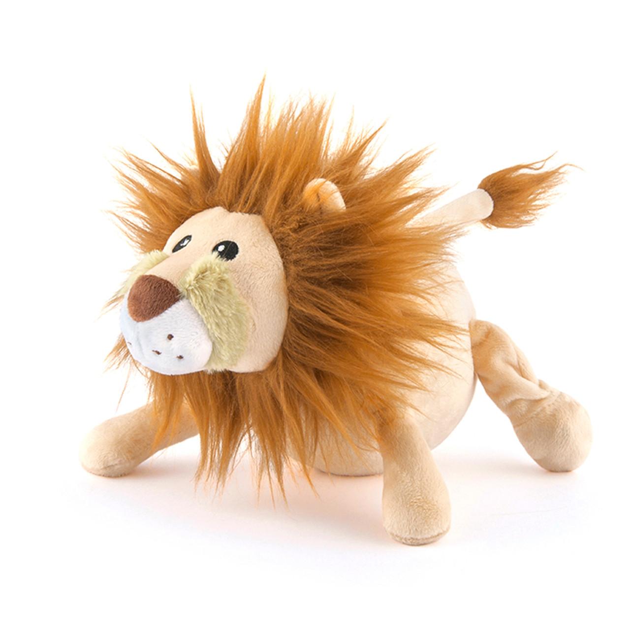 P.L.A.Y. Safari Leonard The Lion Plush Squeaky Dog Toy