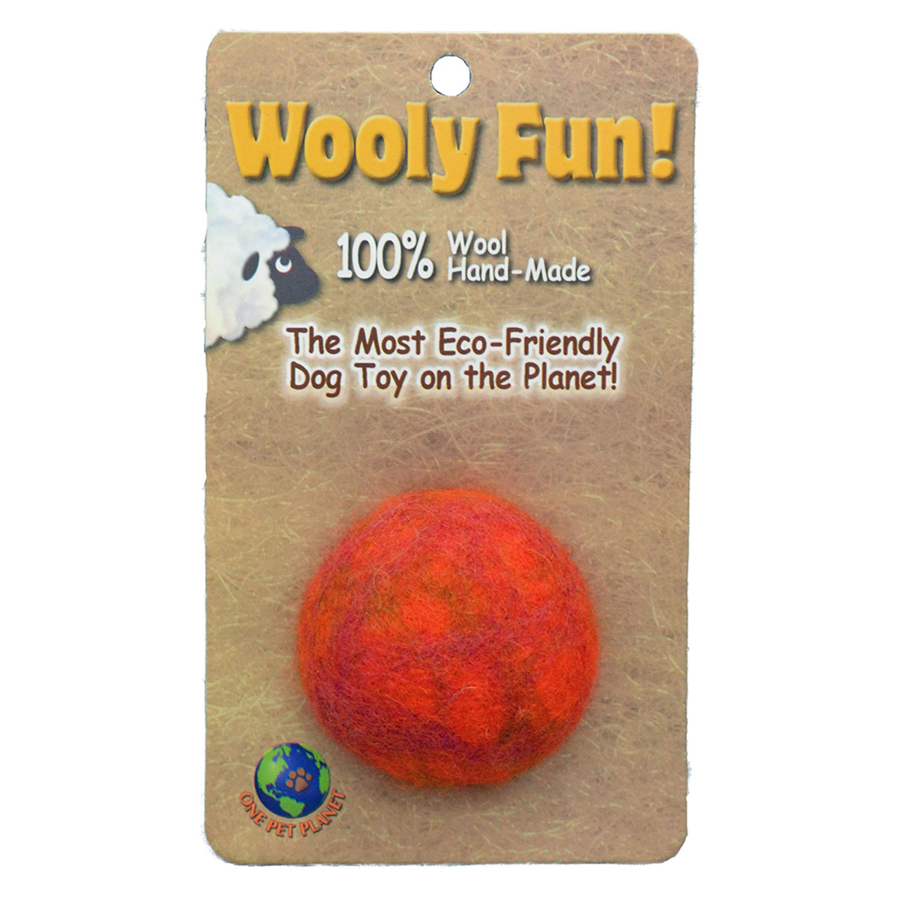 Wooly Fun! Ball Dog Toy