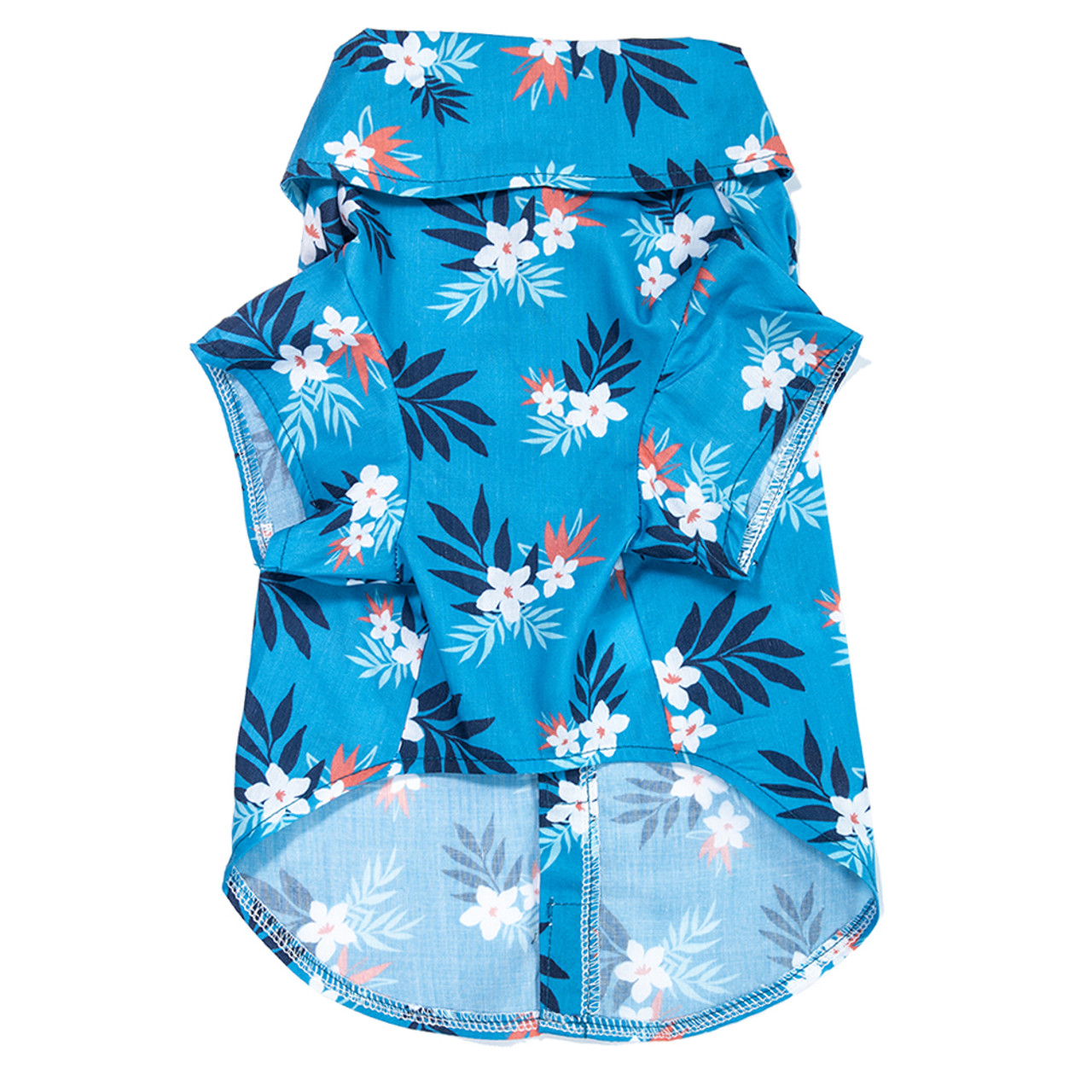 SimplyDog Hawaiian Floral Collar Dog T Shirt