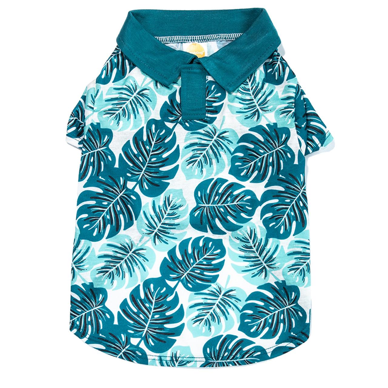 SimplyDog Palm Print Collar Dog T Shirt