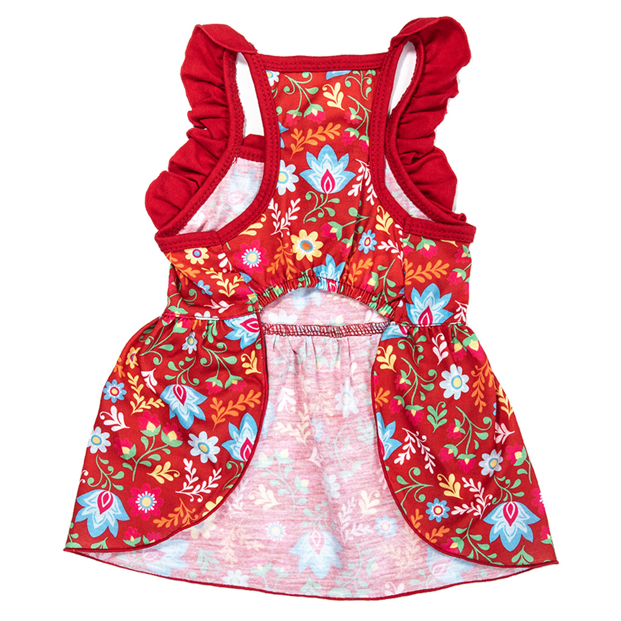 SimplyDog Floral Fiesta Ruffle Dog Dress