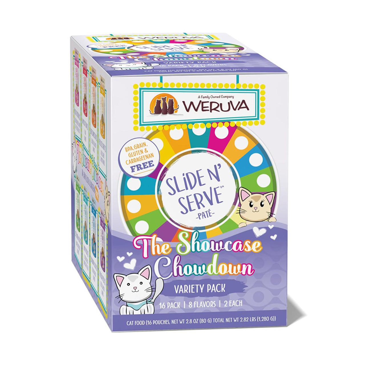 Slide N' Serve The Showcase Chowdown Variety Pack Canned Cat Food