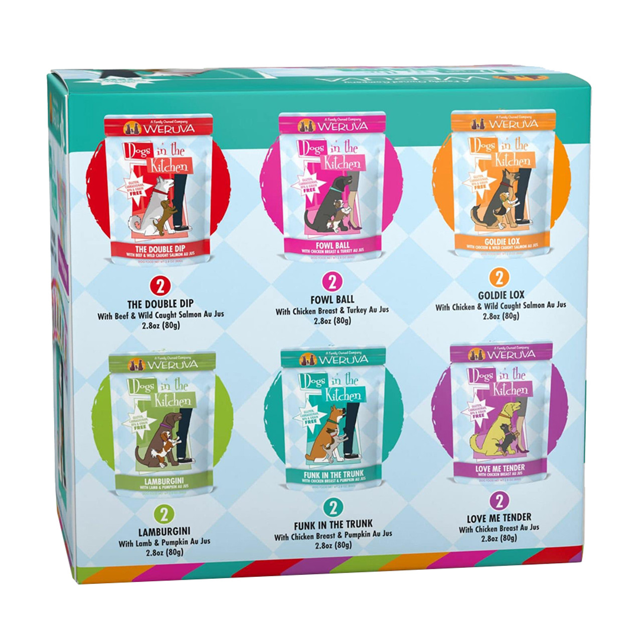 Dogs in the Kitchen Pooch Party Variety Pack Dog Food Pouch