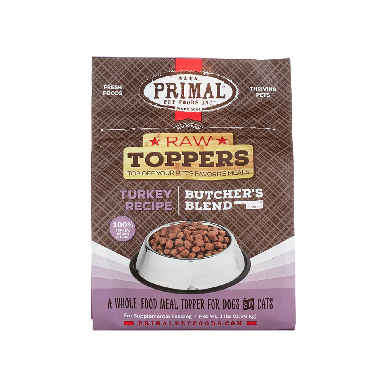 Raw Toppers Butcher's Blend Turkey Recipe Frozen Meal Topper for Dogs & Cats