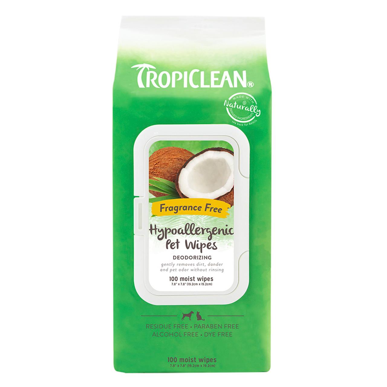 TropiClean Hypoallergenic Cat & Dog Wipes