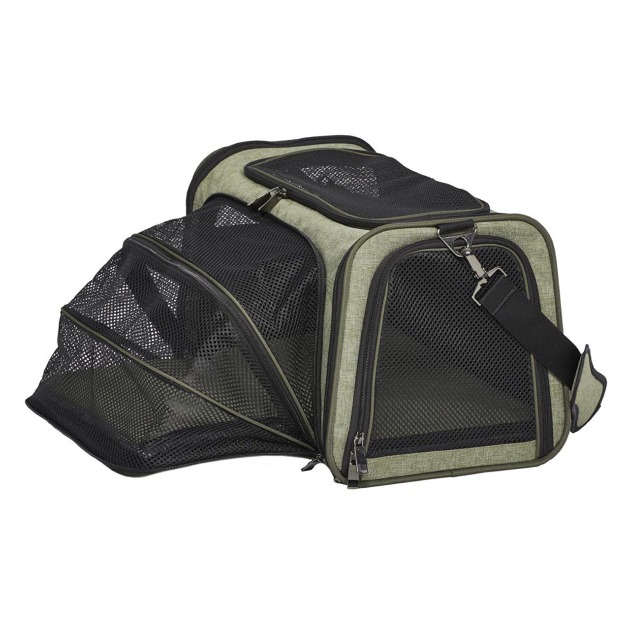 MidWest Duffy Expandable Green Pet Carrier